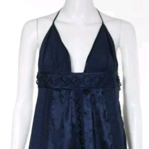 Mint navy blue halter top tunic
